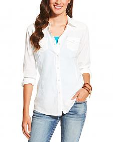 Ariat Women's White Darby Snap Shirt