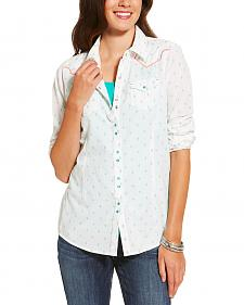 Ariat Women's White Grand Snap Shirt