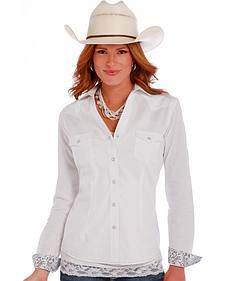 Panhandle Slim White Rough Stock Grivola Vintage Jacquard Shirt