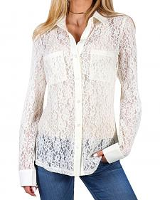 Shyanne Women's Floral Lace Long Sleeve Blouse