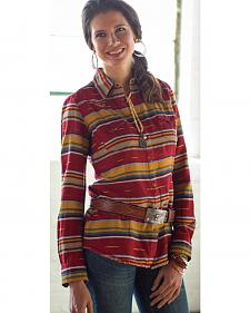 Ryan Michael Women's Serape Western Shirt