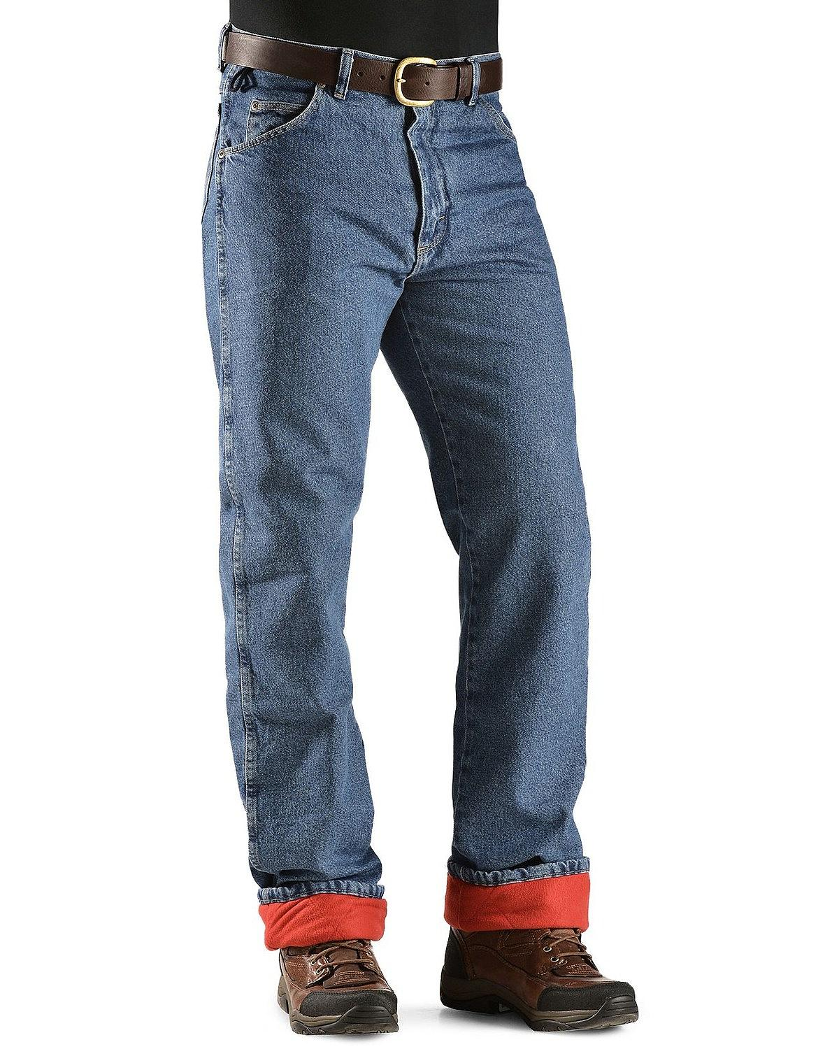 e9f3b33f Wrangler Rugged Wear Thermal Lined Jeans 42 X 30 Relaxed Fit ...