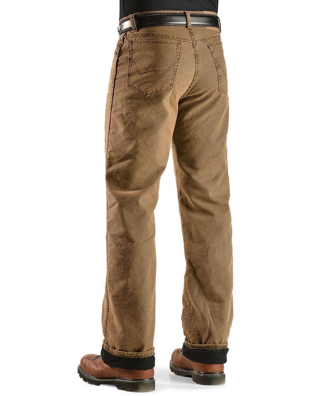 wrangler men 39 s jeans rugged wear relaxed fit flannel lined 33213sw ebay. Black Bedroom Furniture Sets. Home Design Ideas