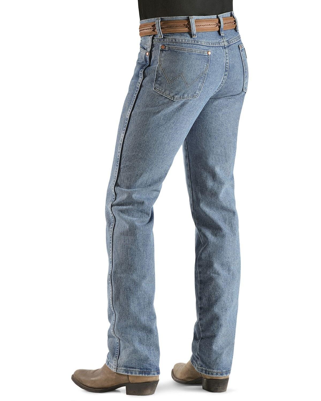 Blue Wrangler Fit Slim 936 Jeans X Dust Wash Men's 36l 34w Premium anqg0W4a