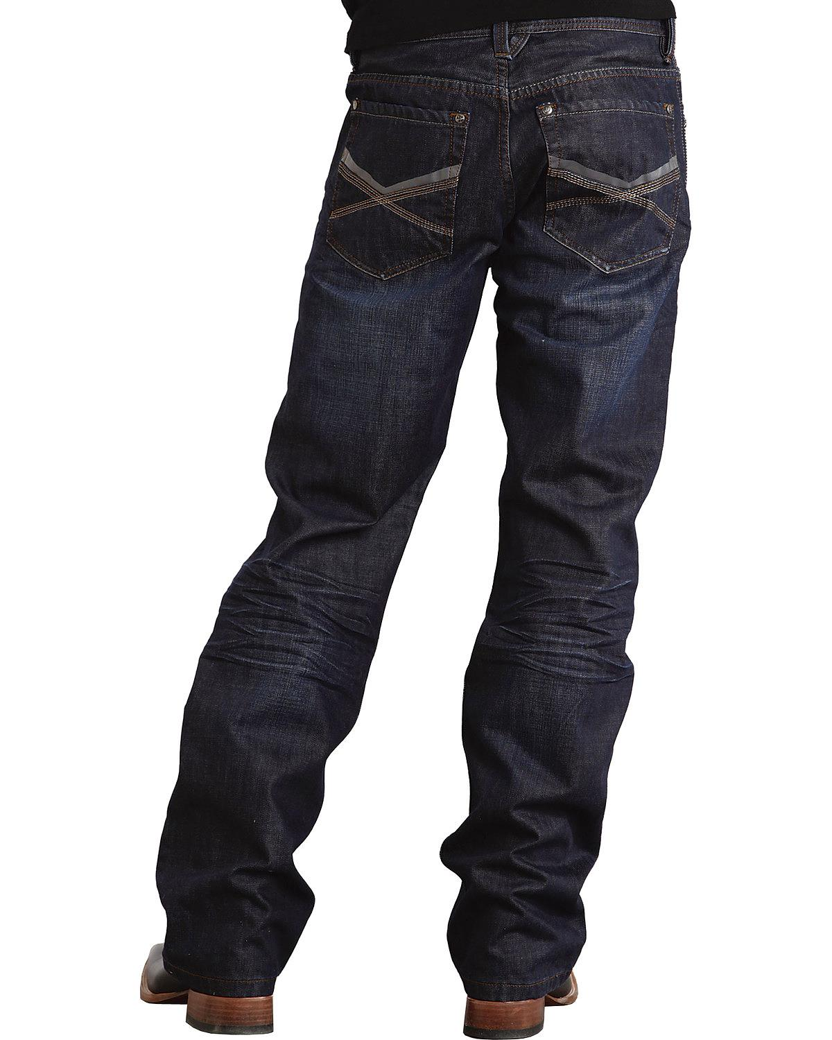 Stetson Men's Modern Fit Deco Double  X  Stitched Jeans - 11-004-1312-4002 Bu
