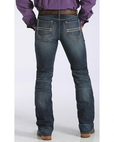 Cinch Ian Mb78036001 Mid Rise Slim Boot Cut Western Blue