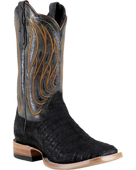 Ariat Nitro Caiman Belly Cowboy Boots Square Toe Sheplers