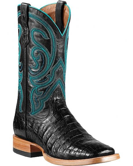 Ariat Stillwater Caiman Belly Cowboy Boots Square Toe