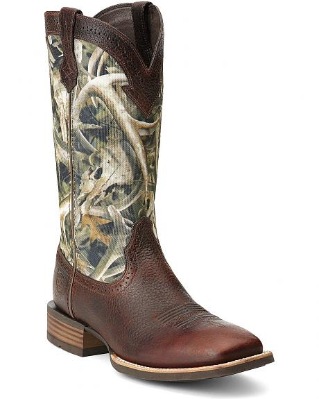 Ariat Quickdraw Camo Cowboy Boots Square Toe Sheplers