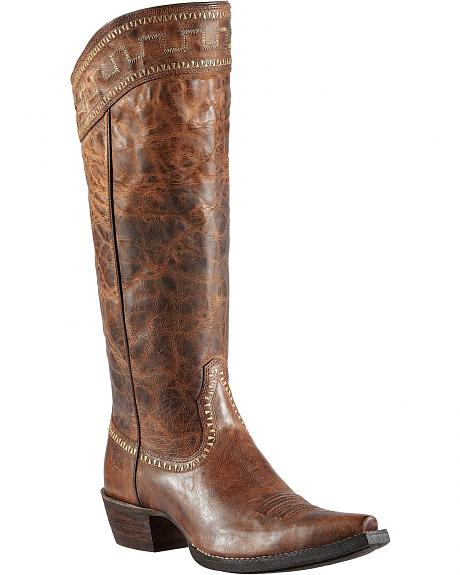 Ariat Sahara 15 Quot Cowgirl Riding Boots Snip Toe Sheplers
