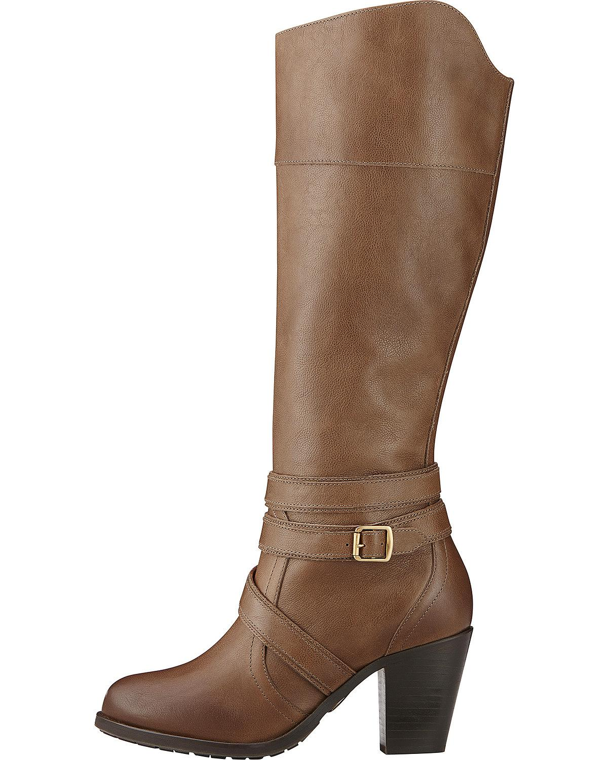 Ariat Fashion BOOTS Womens High Society Round Toe 7.5 B Brown ...
