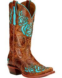 Women's Inlay Cowgirl Boots