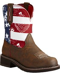Women's Ariat Patriotic Cowgirl Boots