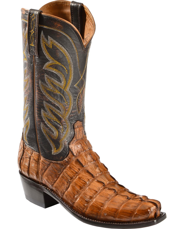 Lucchese Men S Landon Caiman Tail Cowboy Boot Narrow Square Toe M2692 Ebay