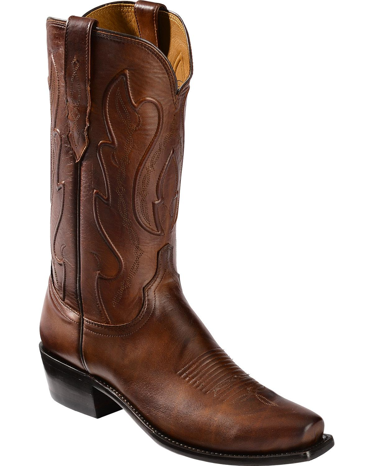 handmade boots lucchese s handmade 1883 cole cowboy boot snip toe 1387
