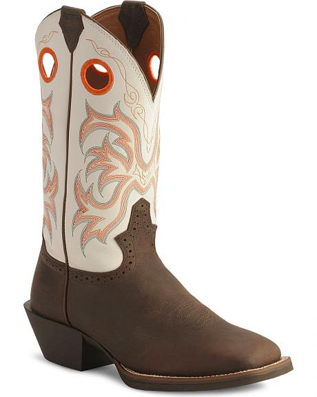Justin Stampede Punchy Boots Square Toe Sheplers