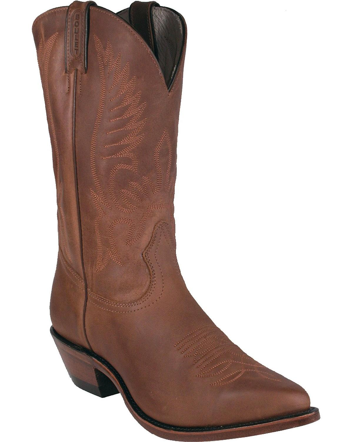 Boulet Men's Fancy Stitched Cowboy Boot Pointed Toe