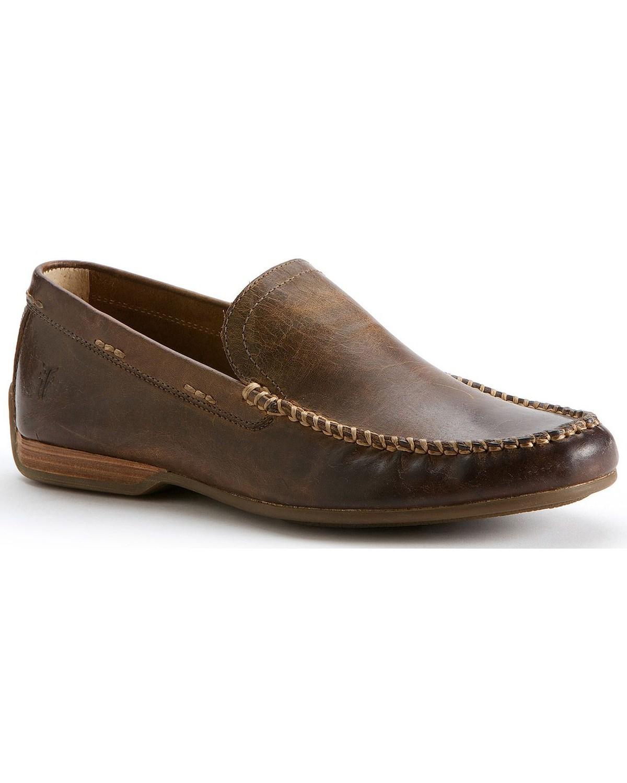 Homme Frye Lewis Venetian Chaussures - 80257-TAN