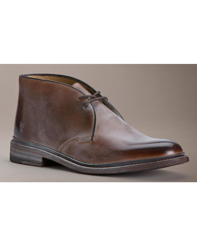 Frye Men S James Chukka Shoes 87880 Tan Ebay