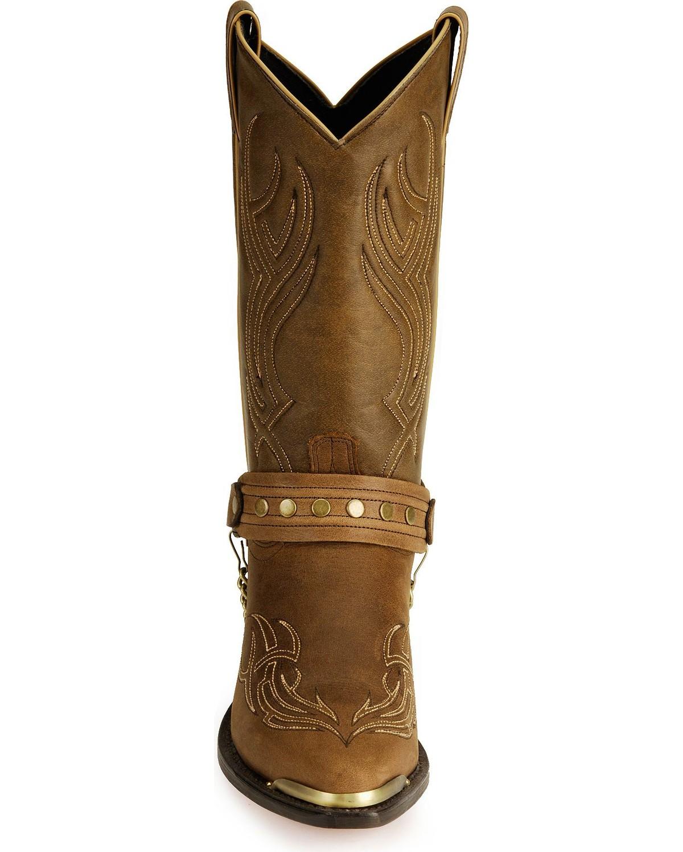 Abilene Men S Sage By Studded Harness Boot 3012 Ebay