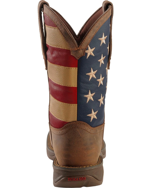 79b2f516746 Details about Durango Rebel Men's American Flag Cowboy Boot - Steel Toe -  DB020