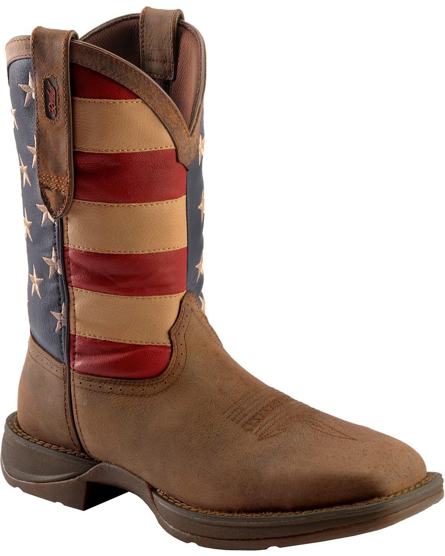 Durango Rebel Men's American Flag Cowboy Boot - Steel Toe - DB020