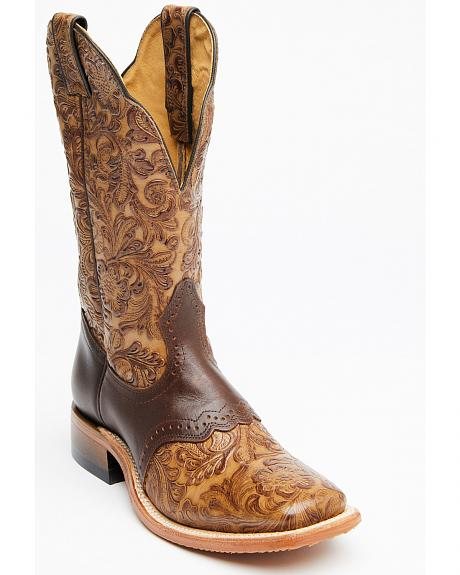 Boulet Hand Tooled Dankan Ranger Cowgirl Boots Square