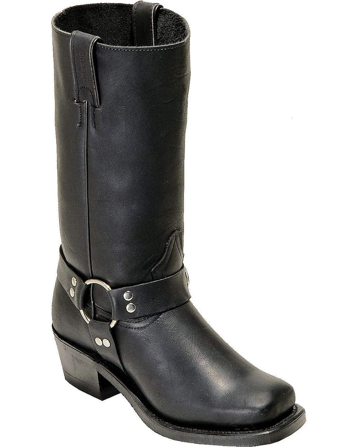 Boulet Women S Harness Motorcycle Boot Square Toe 2064