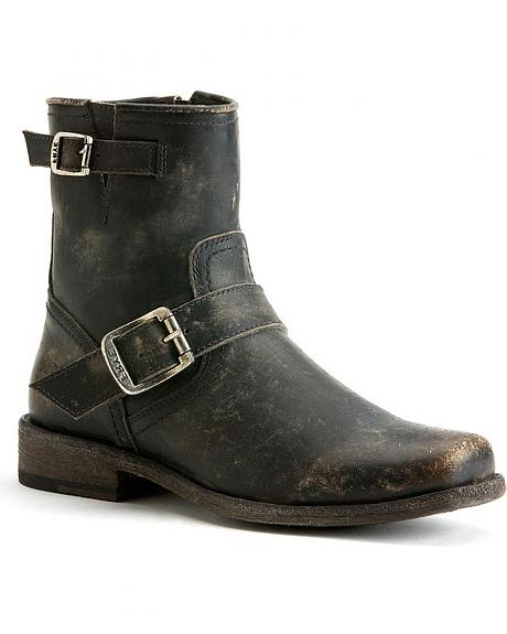 Frye Women S Smith Engineer Short Boots Square Toe
