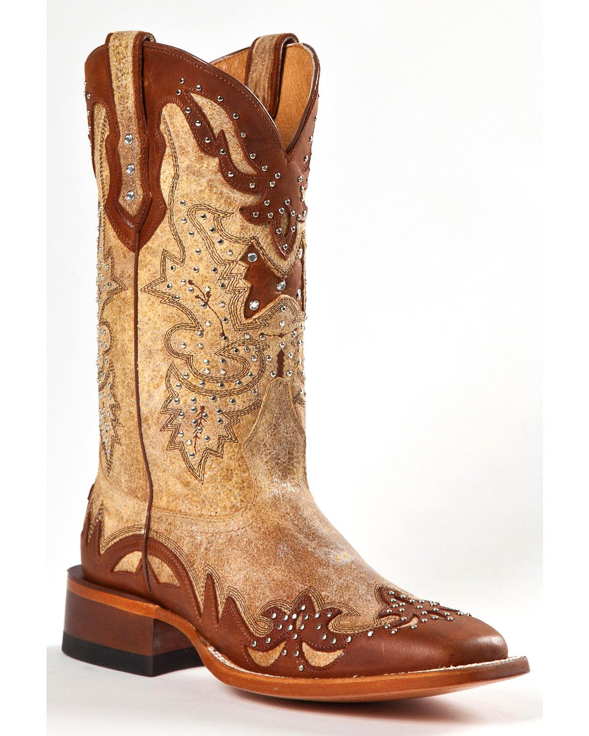 Johnny Ringo Women's Fancy Studded Wingtip Western Boot