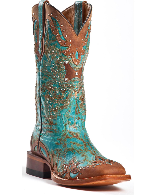Johnny Ringo Women's Fancy Studded Wingtip Western Boot