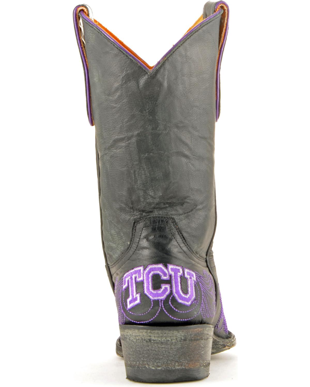 GAMEDAY Texas Vaquera Christian University Vaquera Texas Botas-SNIP Toe-TCU-L122-1BRS 1ceaec