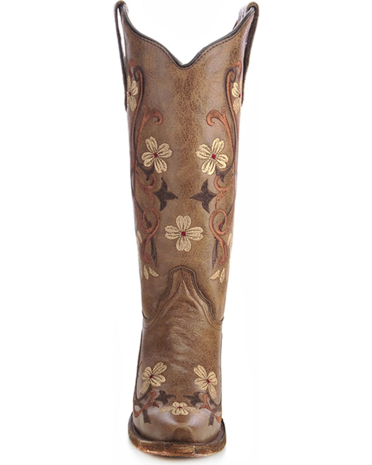 Circle G Women S Diamond Embroidered Cowgirl Boot Square: Circle G Women's Floral Embroidered Cowgirl Boot Snip Toe
