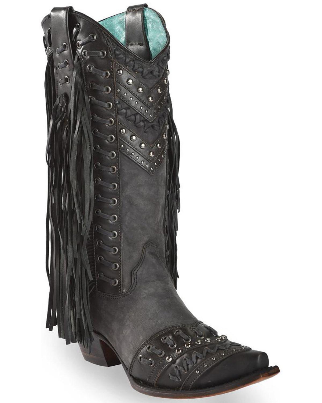 negozi al dettaglio Corral Studded Side Fringe Cowgirl Cowgirl Cowgirl avvio - Snip Toe - C3006  in linea