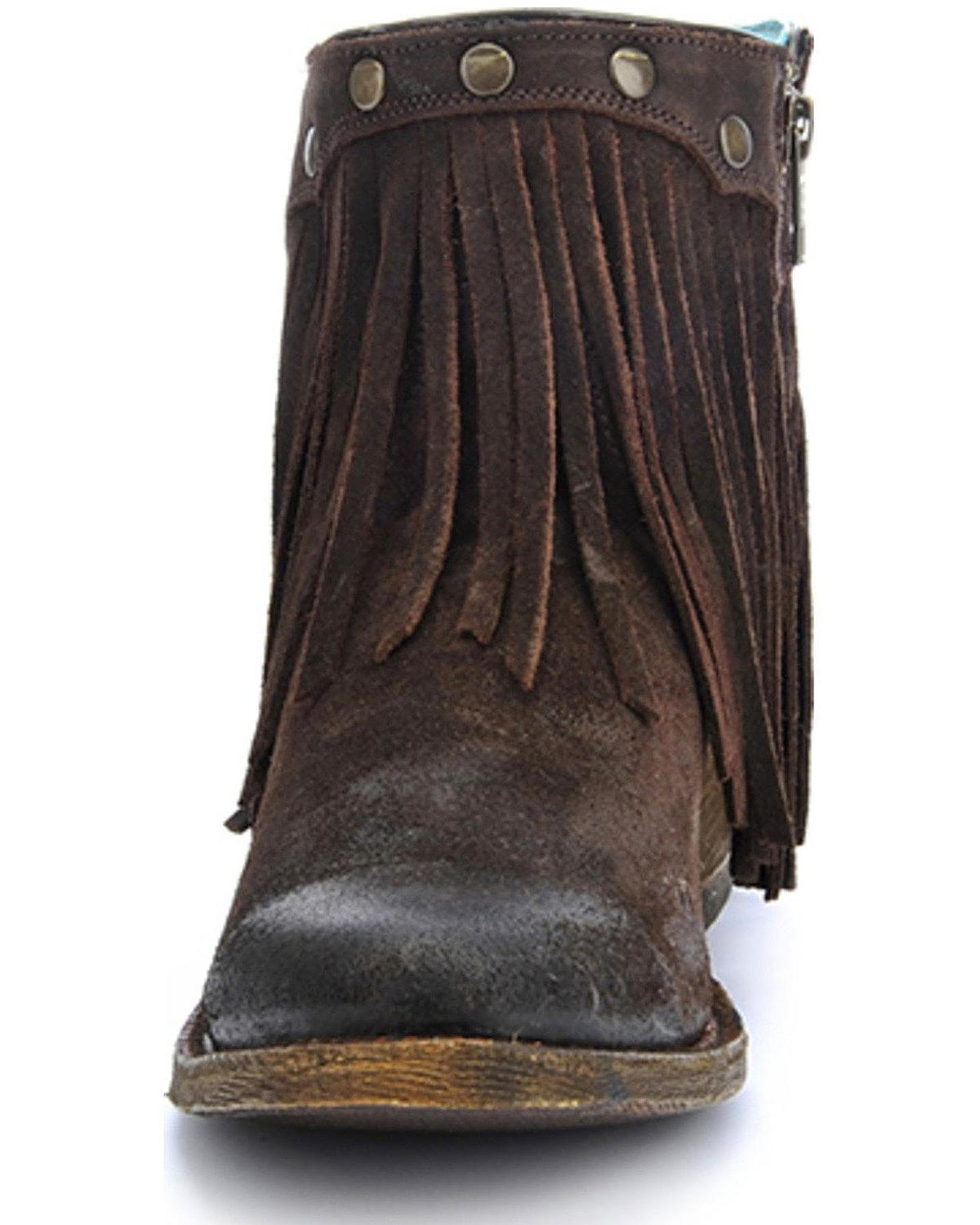 Corral Women's Fringe Booties - - - Round Toe - A3136 50039b