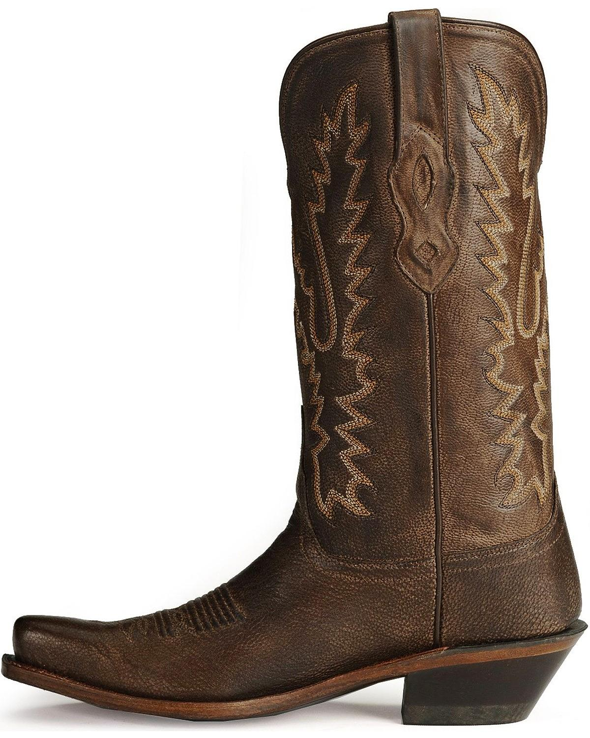 Old West Distressed Leder Cowgirl Boot Toe  - Snip Toe Boot - LF1534 86de0b