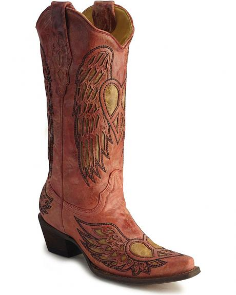 Corral Angel Wing Heart Cowboy Boots Sheplers