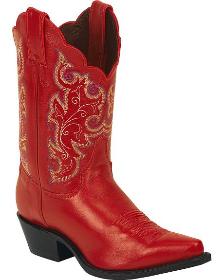 Justin Classic Western Cowgirl Boots Snip Toe Sheplers