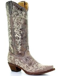 Women's Embroidered Boots