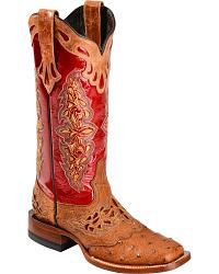 Women's Tooled & Inlay Cowboy Boots
