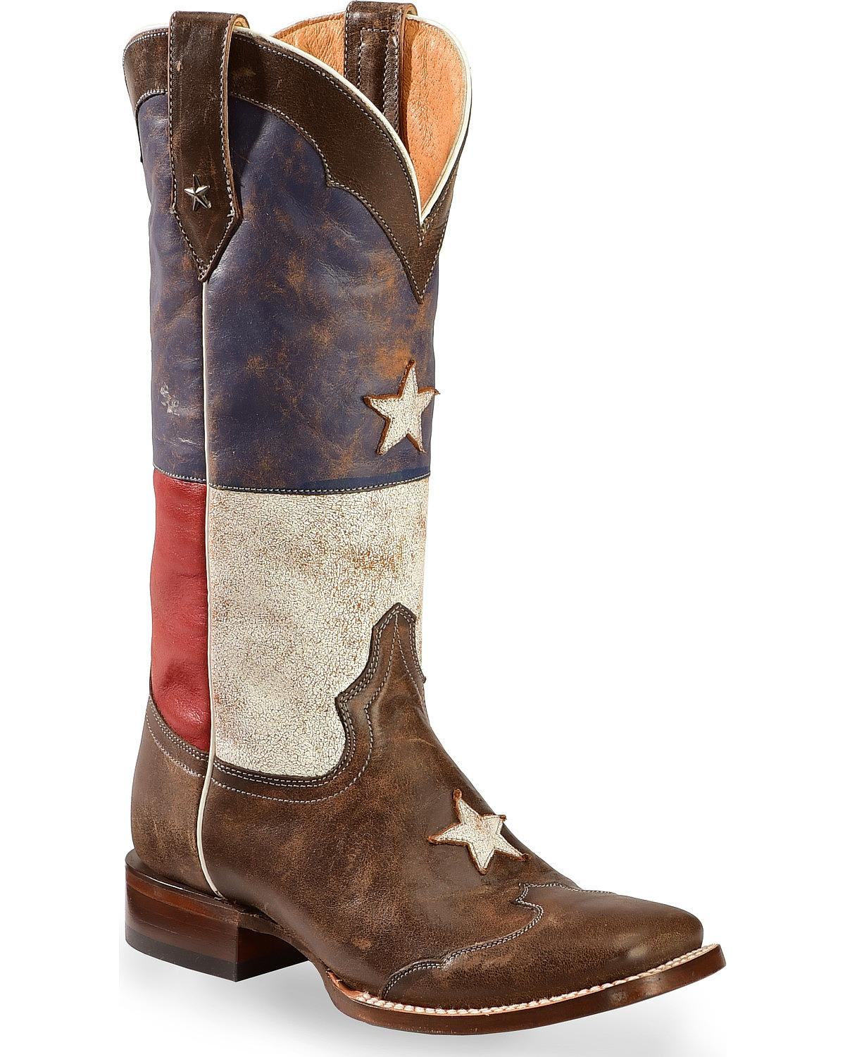 Roper Distressed Texas Flag Cowgirl Boot - Square Toe - 09-021-7001-0203
