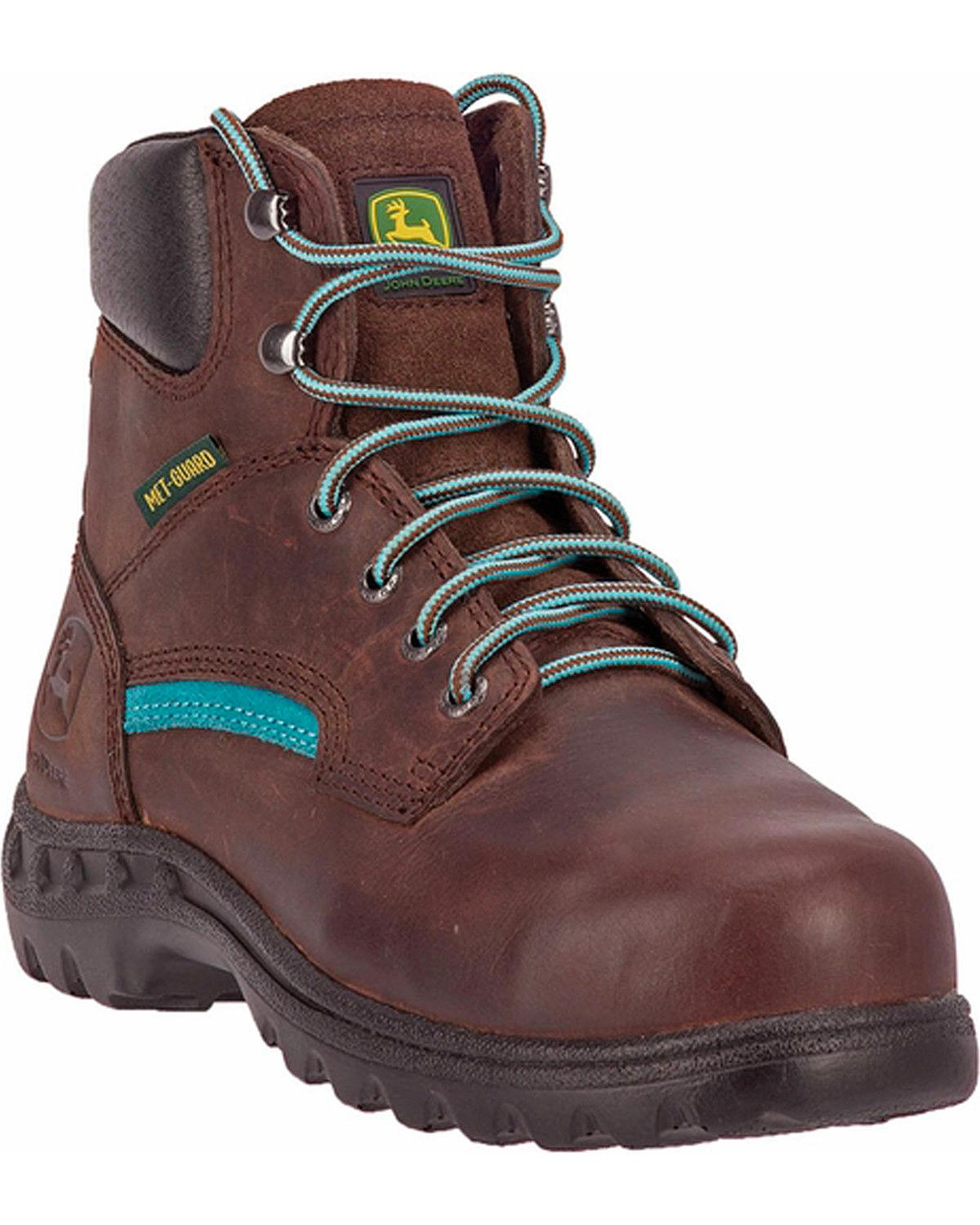 John John John Deere Women's Lace-Up Work Boot - Steel Toe - JD3672 204c5e