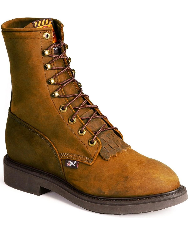 Justin Men S Original 8 Quot Lace Up Work Boot Steel Toe 767