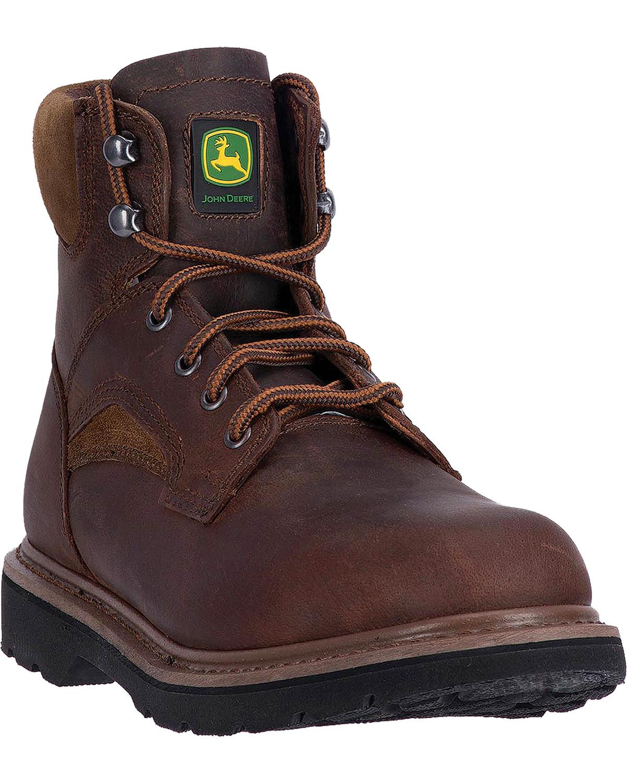 John Deere Men's 6  Work Boot - Round Toe - JD6194