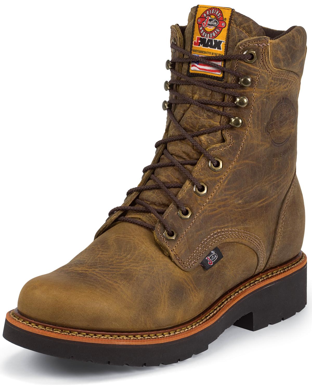 Jow Men S Justin J Max 8 Quot Work Boot Soft Toe 442 Ebay