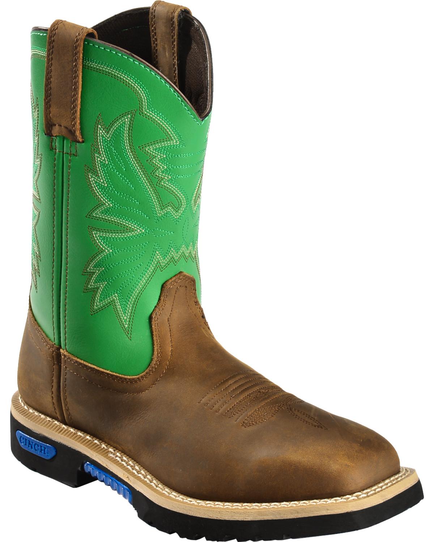 Cinch-amp-reg-WRX-Men-039-s-Waterproof-Steel-Toe-10-034-Work-Boot-WXM141SW