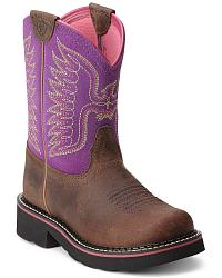 Girls' Ariat Cowgirl Boots: Sizes 8 - 3