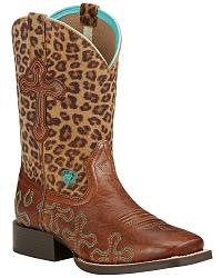 Youth Girls' Ariat Cowgirl Boots: Sizes 3 - 7