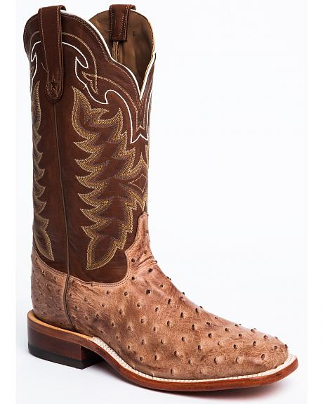 Tony Lama San Saba Vintage Full Quill Ostrich Cowboy Boots