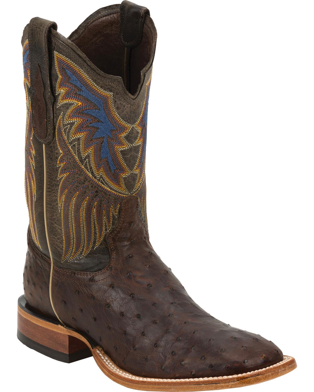 Tony Lama Men S Label Full Quill Ostrich Cowboy Boot